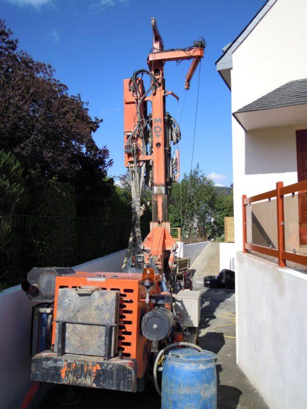 Forage vertical pour géothermie